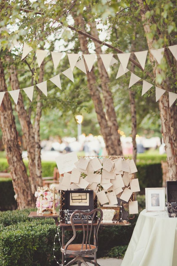 'Guest Book' Idea - Letters typed on the typewriter and displayed *love*