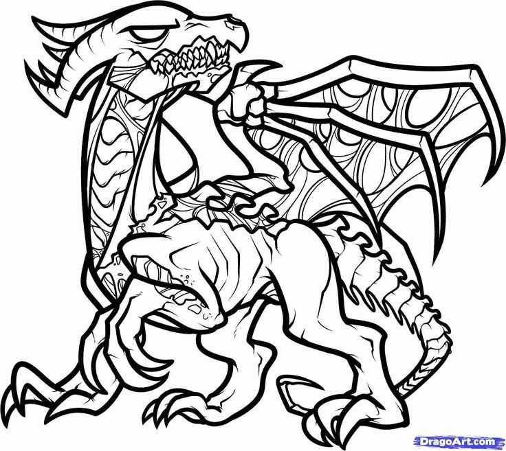 Ender Dragon Coloring Page Lovely Minecraft Coloring Pages Designs Within Ender Dragon Minecraft Coloring Pages Dragon Coloring Page Animal Coloring Pages