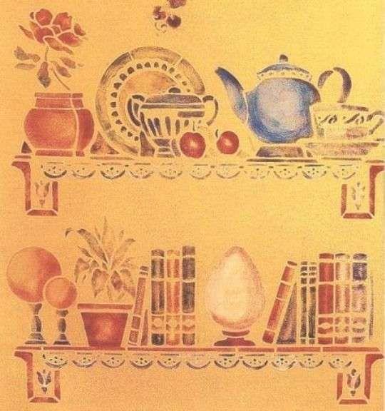 Oltre 25 fantastiche idee su mensole cucina su pinterest - Stencil per cucina ...