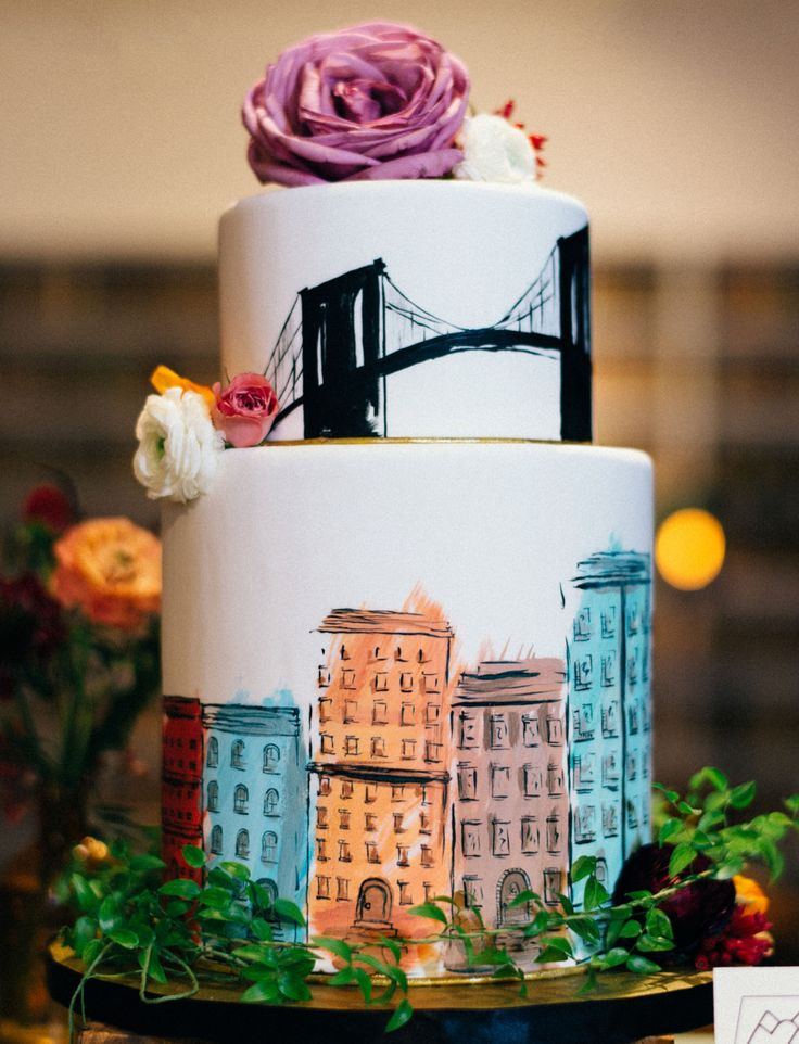 Colorful Wedding Inspiration at The Brooklyn Art Library