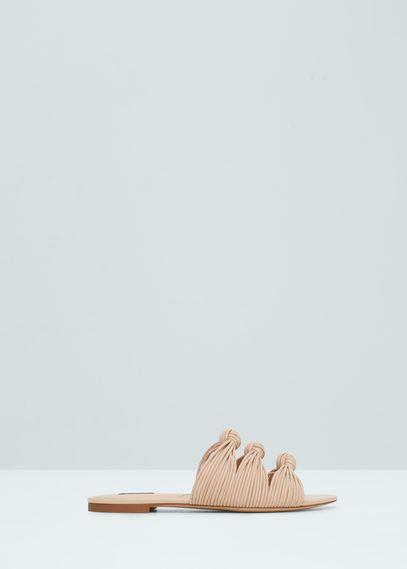 Knots flat sandals | MANGO