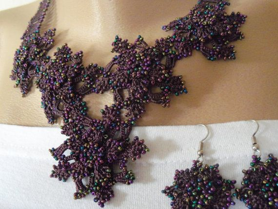 GORGEOUS purple necklace and wonderful PURPLE  by colourfulrose, $29.90