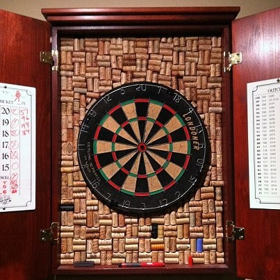 wine cork dart board frame