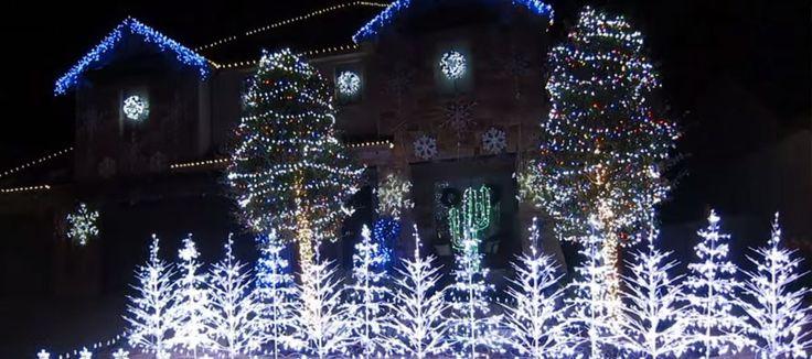 Les décorations de Noël de sa maison dansent au rythme de la musique de Frozen