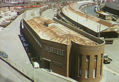 Inward Goods Building built 1943, Darling Harbour Rail Yards, photo 1978: Helen