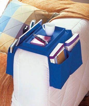 Armchair Caddies Storage for Remote Controls Books 6 Pockets [SM369072-4AC7-BRN] - $12.95 : Smart Saver LLC