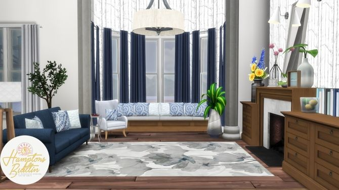 Hamptons Builtin Intergrated Furniture Options At Simsational
