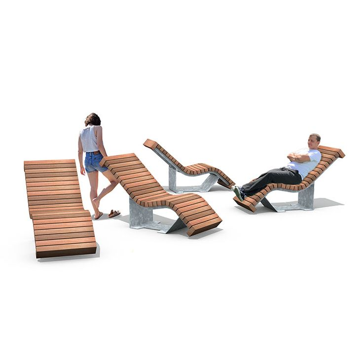 streetlife solid serif chaise longue the lounger of the solid series
