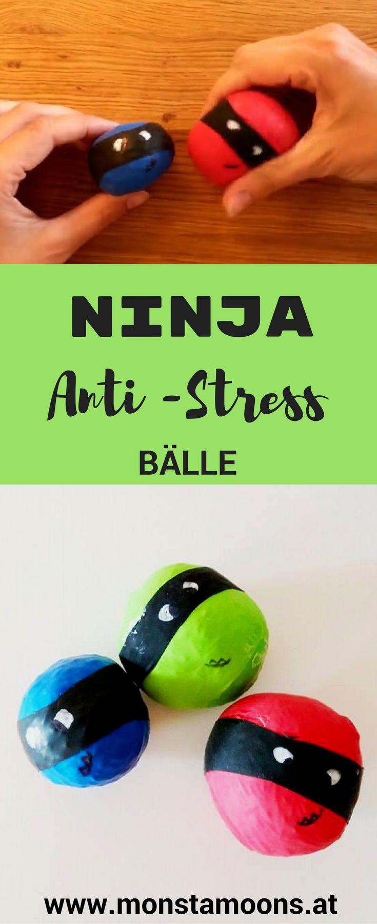 Antistressbälle basteln, DIY Antistressbälle, Ninja crafts, Ninjas basteln, Monstamoons, Jungskram, Basteln mit Kindern
