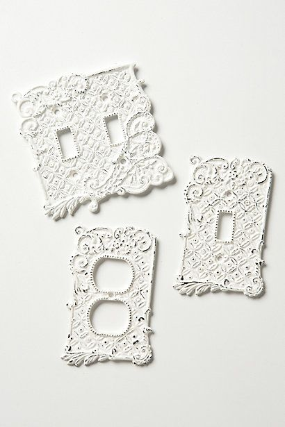 Tin Roof Switchplates - Anthropologie.com  These would be perfect for my future french country style kitchen.