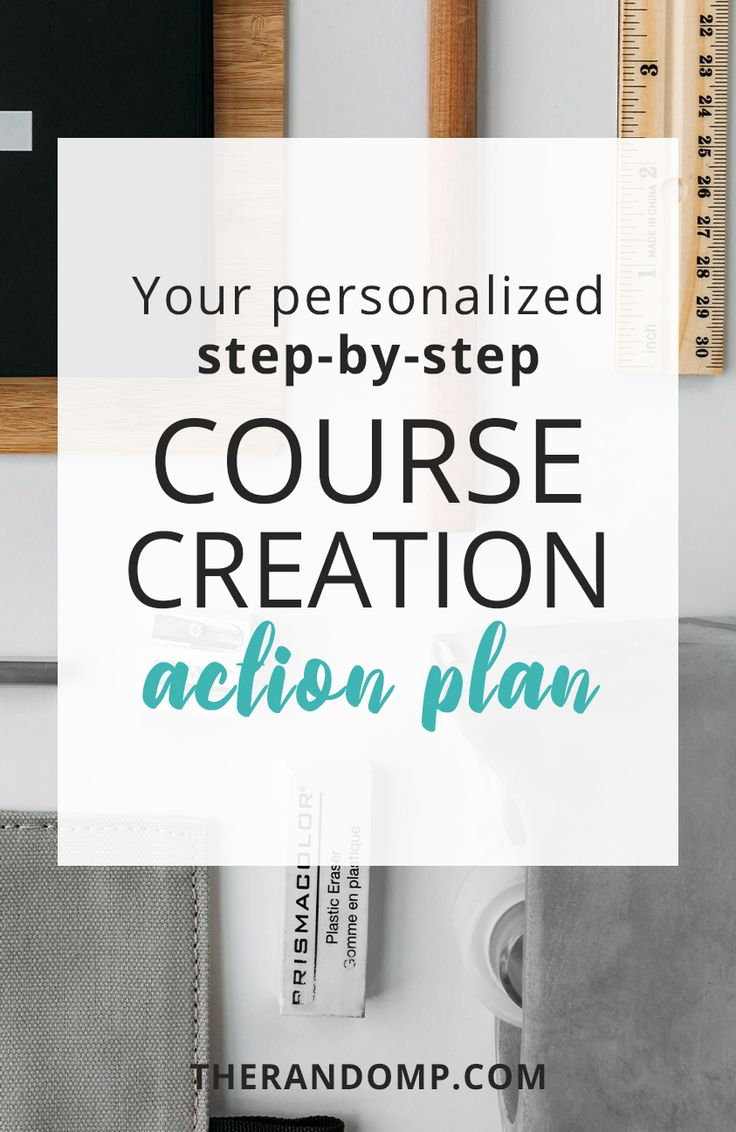 Are you ready to create your online course but have no idea how to get started? Get personalized course creation action plan with step-by-step guide to your own online course! https://www.therandomp.com/action-plan