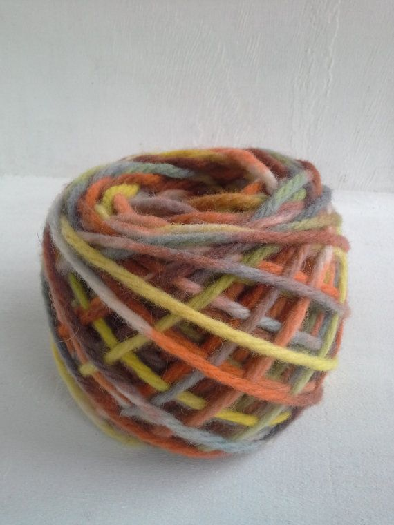 hand dyed yarn multicolor bulky yarn wool yarn by KoloroStudio