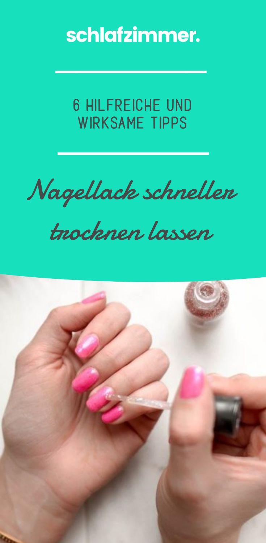 Nagellack schneller trocknen: 6 hilfreiche und wirksame Tipps