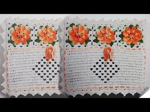 Caminho de Mesa do Jogo de Capas de Crochê Para Cadeiras - YouTube
