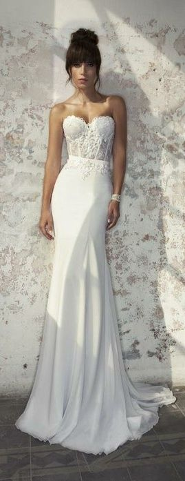 Loving the bottom!!! The flowyness!....♡ Wedding Story ♡ Julie Vino Bridal Collection