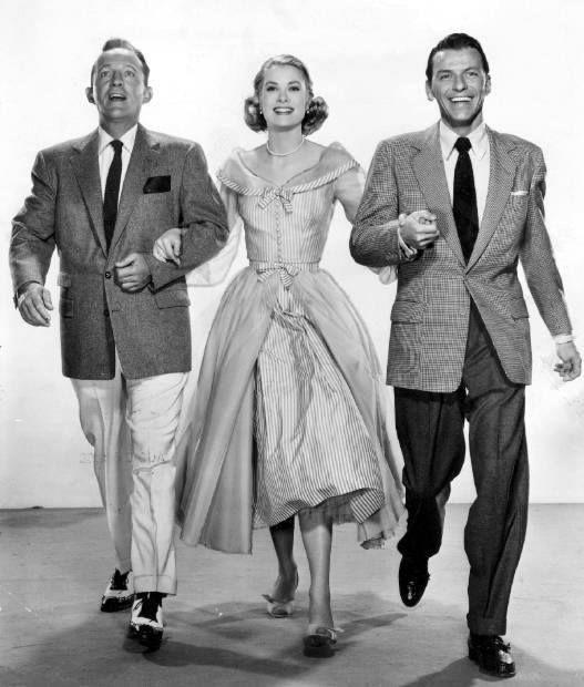 Bing Crosby, Grace Kelly and Frank Sinatra.