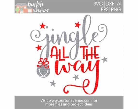Free Svg Files Burton Avenue Christmas Svg Files Christmas Labels Jingle All The Way