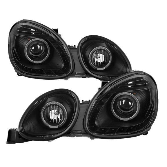 Lexus 1998 2005 Gs300 Gs400 Gs430 Pair Set Led Projector Halo Headlights Projector Headlights Lexus Headlights