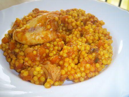 Recette Barkoukech au poulet de la cuisine Tunisienne