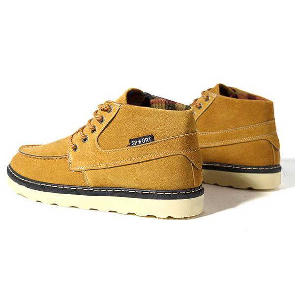Men Comfortable Casual High Top Outdoor Suede Boots