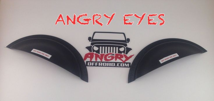 Angry Eyes - Jeep Headlight Cover - Angry Eyes Jeep Headlight Covers