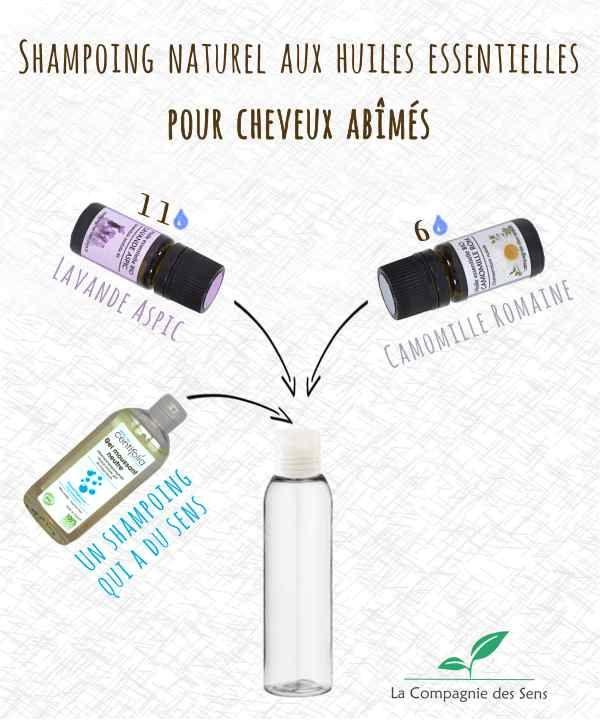 Shampoing aux huiles essentielles pour cheveux abîmés aux propriétés protectrices et cicatrisantes