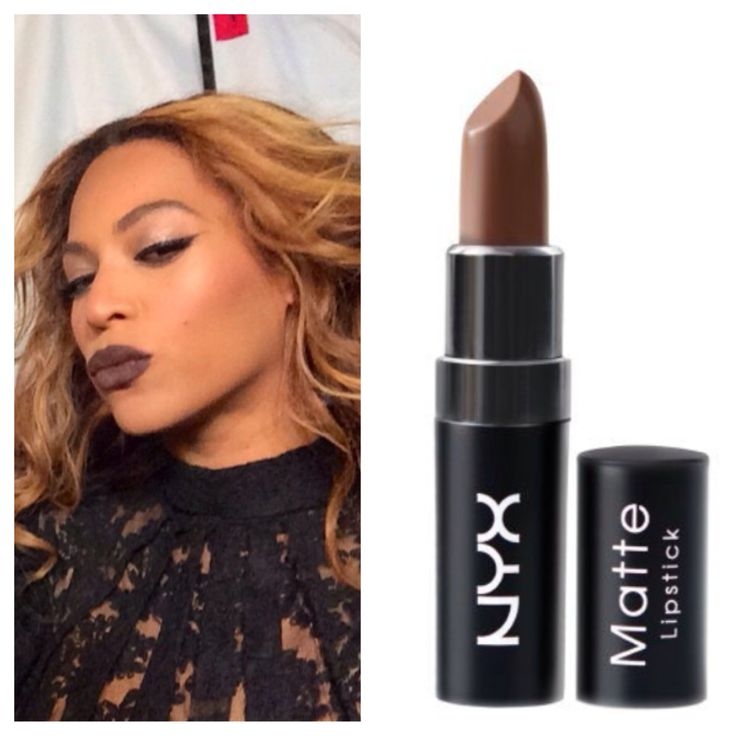 "Unsure of the exact color Beyonce is wearing BUT NYX's Matte Lipstick in ""Maison"" is a dupe. I would suggest using MAC's Nightmoth Liner to darken the color."
