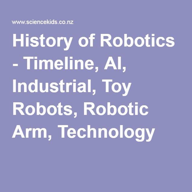 History of Robotics - Timeline, AI, Industrial, Toy Robots, Robotic Arm, Technology