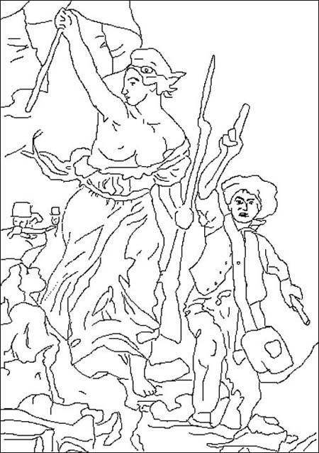 Delacroix : La liberté guidant le peuple