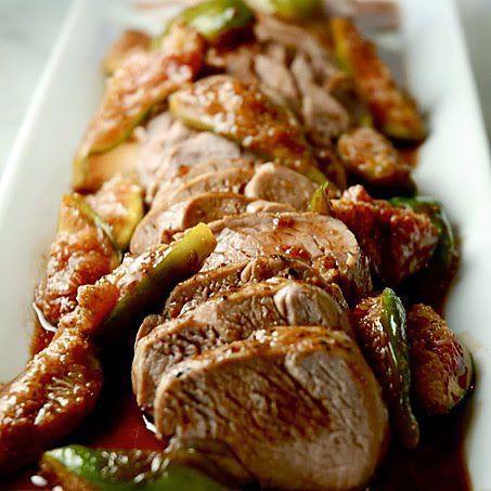 Roasted Pork Tenderloin with Fig Sauce