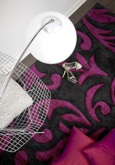 """Best Buying Guide And Review On Glitter Ball 02 Grey Purple Black Floral Rug """