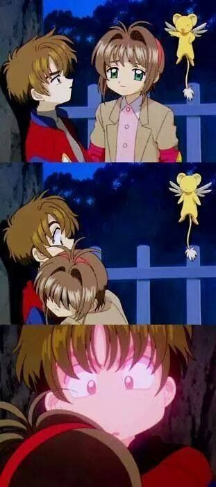 La primera vez que Shaoran se puso rojo por Sakura.❤