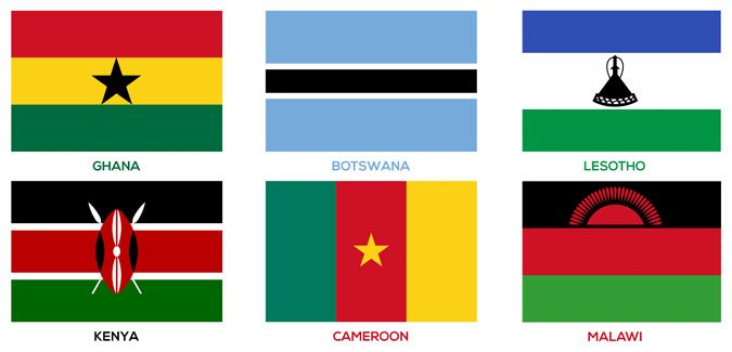 Commonwealth Country Flags (with names)
