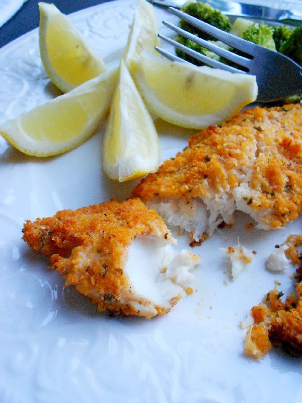 Culinary Couture: Parmesan-Crusted Tilapia. I'd do this with much less olive oil to save on the unnecessary cals!