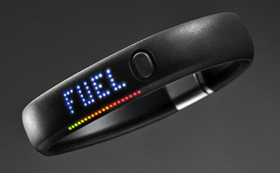 Nike+ FuelBand tracks your movements throughout the day. Nifty.