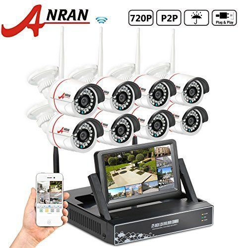 Cheap ANRAN 8CH WIFI Network NVR 7 inch Monitor Smart Wireless Camera System with 8 x 720P Waterproof Outdoor IR Night Vision Home Security Camera Plug Play No Hard Drive http://ift.tt/2omk05s #homesecuritysystemmonitor #homesecuritysmartsystem