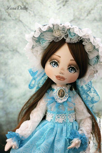 Арина - бирюзовый,кукла,тургеневская девушка,авторская кукла,коллекционная кукла