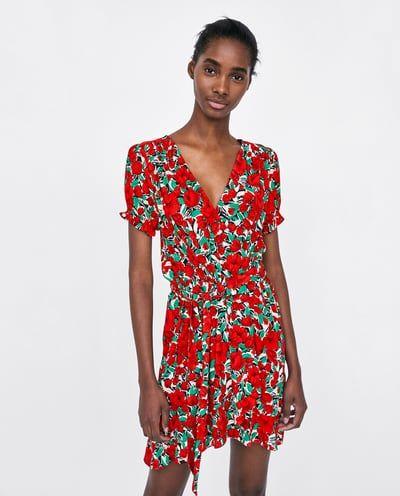 79d09784 PRINTED CROSSOVER DRESS from Zara   WISHLIST   Dresses, New dress ...