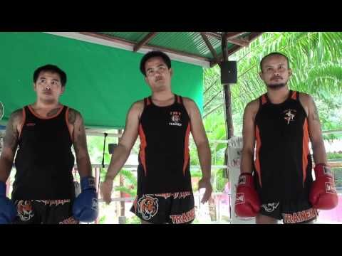 Tiger Muay Thai techniques: Defend knee respond w/ hook to face