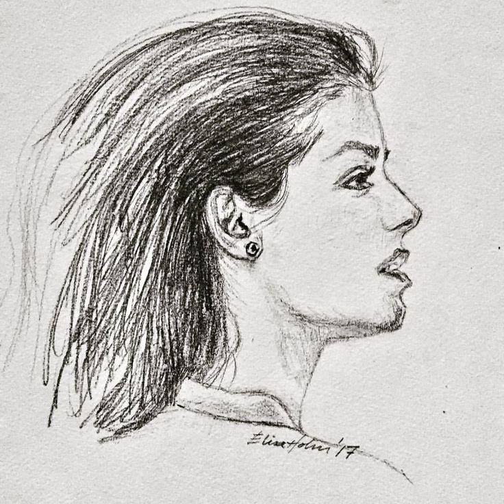 """4 likerklikk, 1 kommentarer – Elin Holm (@elinartholm) på Instagram: """"Katie Melua #katiemelua #face #profile #ansikt #portrait #portrett #nature #norwegianart…"""""""