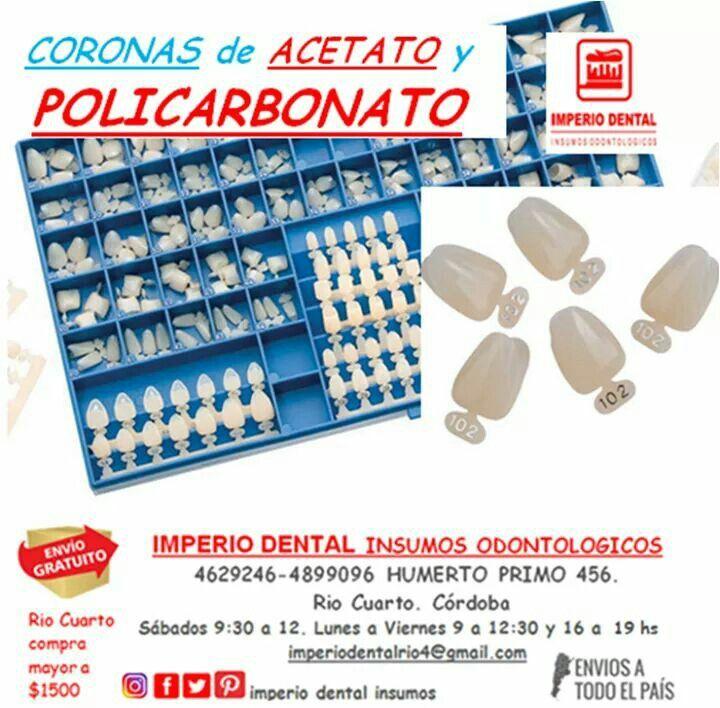 Coronas de policarbonato y acetato. Llegaron!!!