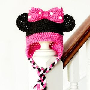 Too Cute!!!    ***    Miss Mouse Baby Hat | AllFreeCrochet.com