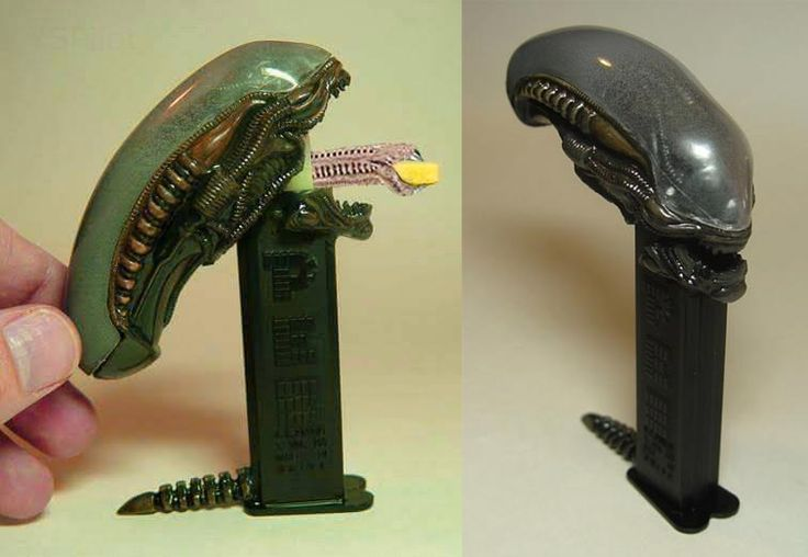 "This amazingly detailed Alien Pez dispenser by artist Peter ""Rat D"" Davidson is quite possibly the most amazing pez dispenser I have ever seen. Unfortunately, since it is a custom-made piece, it is…"