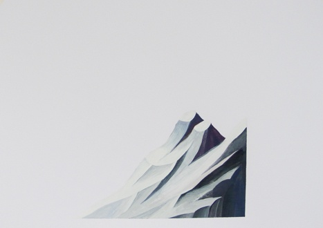 fragment of mountain,  painting.