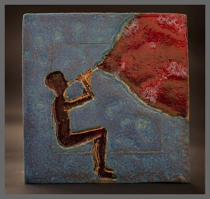 Sylwia Łabaj - ceramic tile, picture, height 19cm