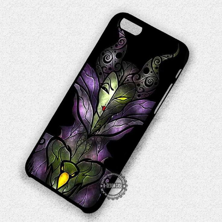 Dark Stained Glass Villain Disney Maleficent - iPhone 7 6 5 SE Cases & Covers
