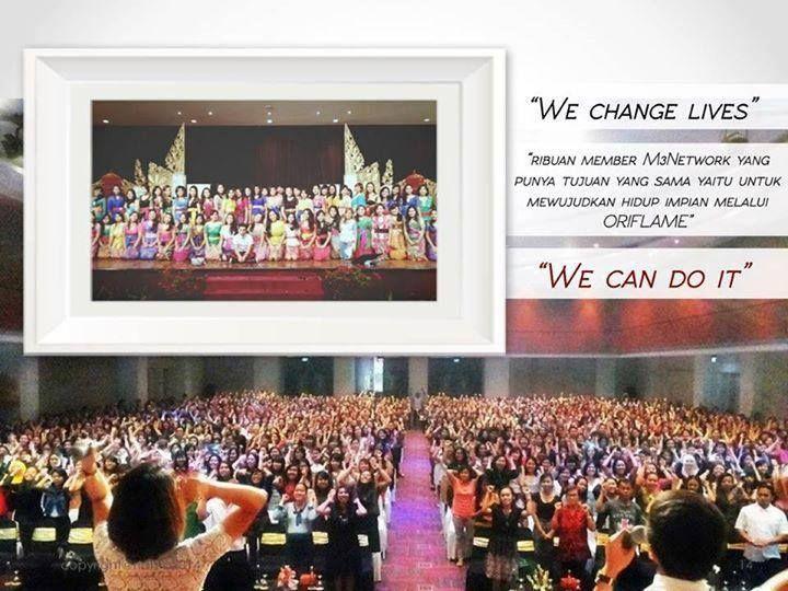 We change lives, we can do it Met pagi dan met beraktivitas semua