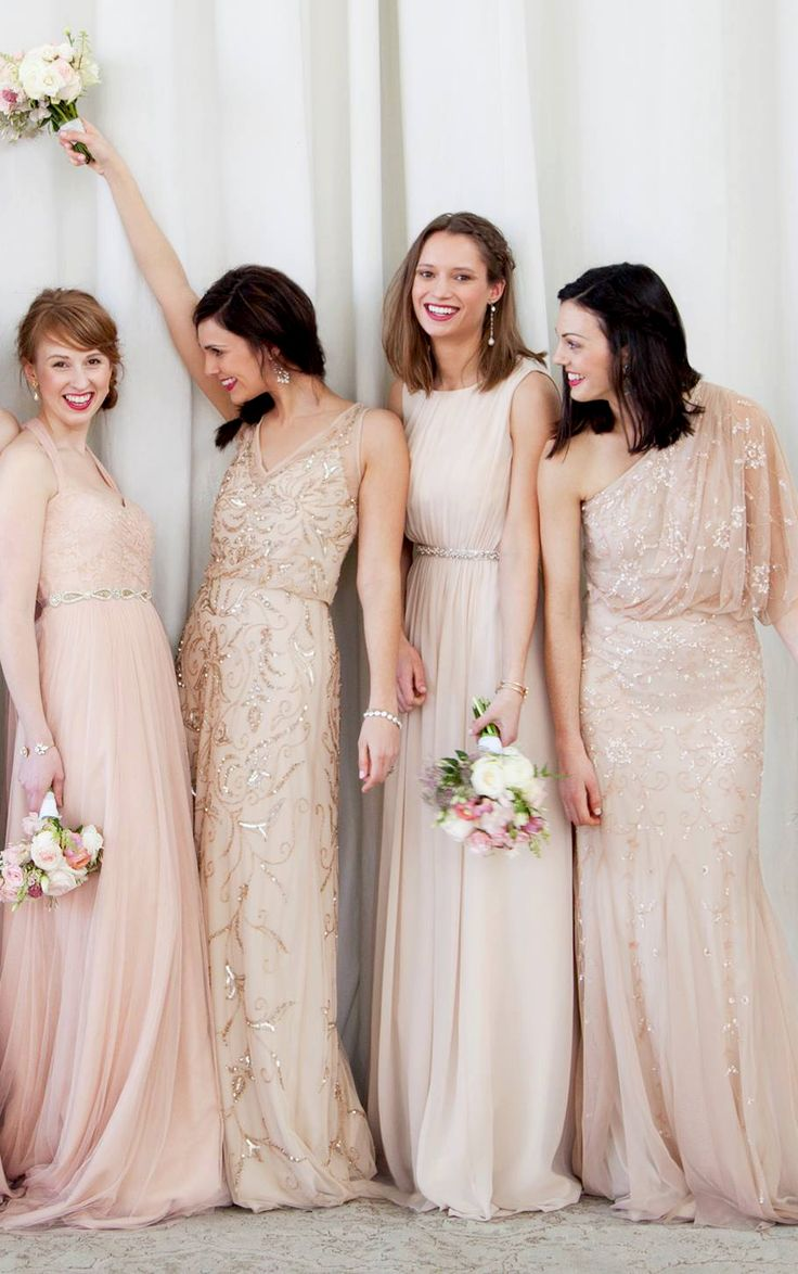 Blush bridesmaids- bridesmaids choose their own dress? What do you guys think?