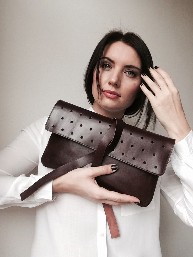 Balas leather clutch. Handcrafted in Czech Republic.