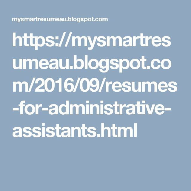 Best Images About Administrative Assistant Resume On